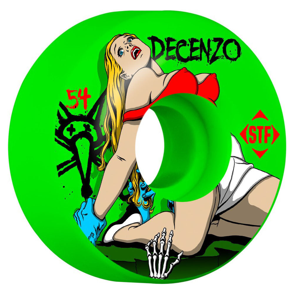Bones STF Decenzo B-Movie V1 Skateboard Wheels - Green - 54mm (Set of 4)