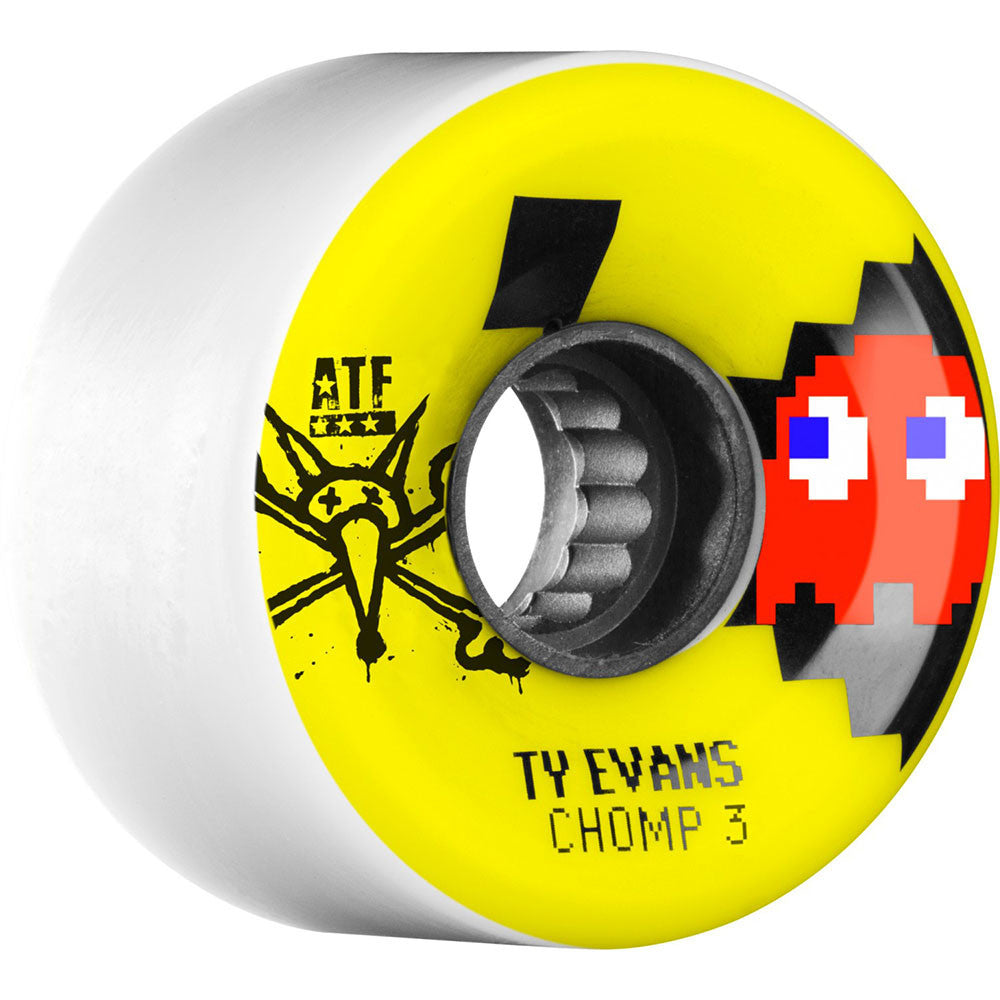 Bones ATF Evans Chomped III Skateboard Wheels - White - 62mm (Set of 4)