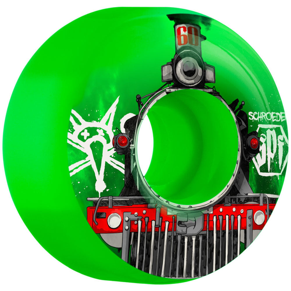 Bones Pro Schroeder Train SPF Skateboard Wheels - Green - 60mm (Set of 4)