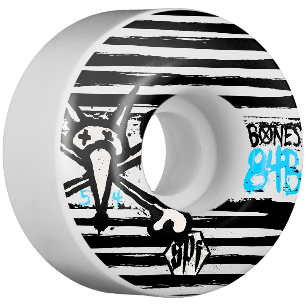 Bones Strokes SPF V1 Skateboard Wheels - White - 54mm (Set of 4)