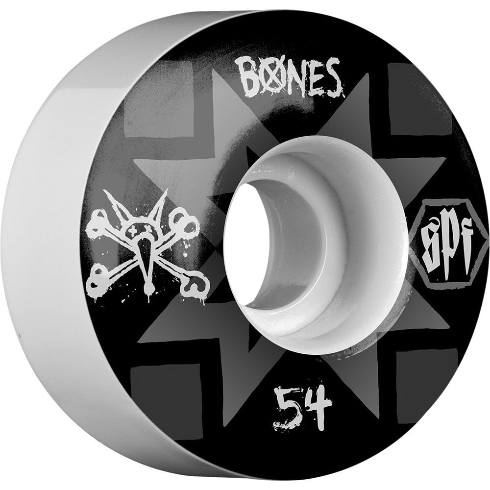Bones Fireball SPF Skateboard Wheels - White - 54mm 84b (Set of 4)
