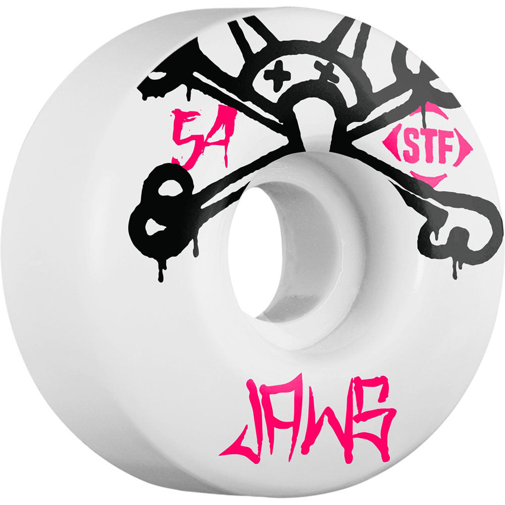 Bones STF Pro Homoki Mad Chavo Skateboard Wheels - White - 54mm 83b (Set of 4)