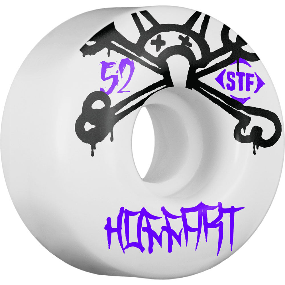 Bones STF Pro Hoffart Mad Chavo Skateboard Wheels - White - 52mm 83b (Set of 4)