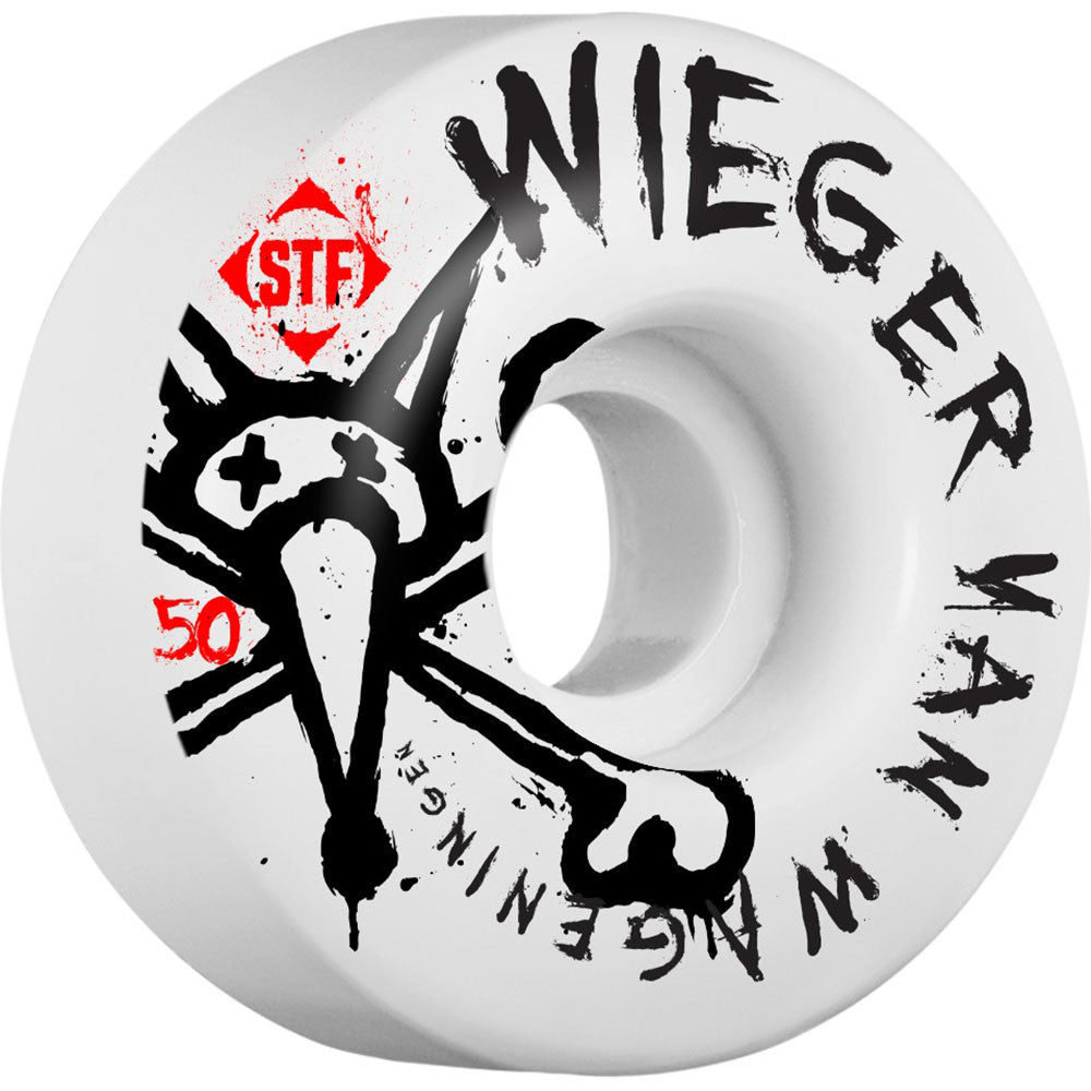 Bones STF Pro Wieger Faded Skateboard Wheels - White - 50mm 83b (Set of 4)