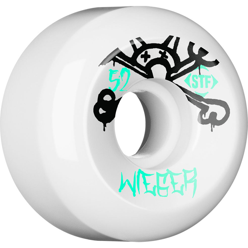 Bones STF Pro Wieger Mad Chavo Skateboard Wheels - White - 52mm 83b (Set of 4)