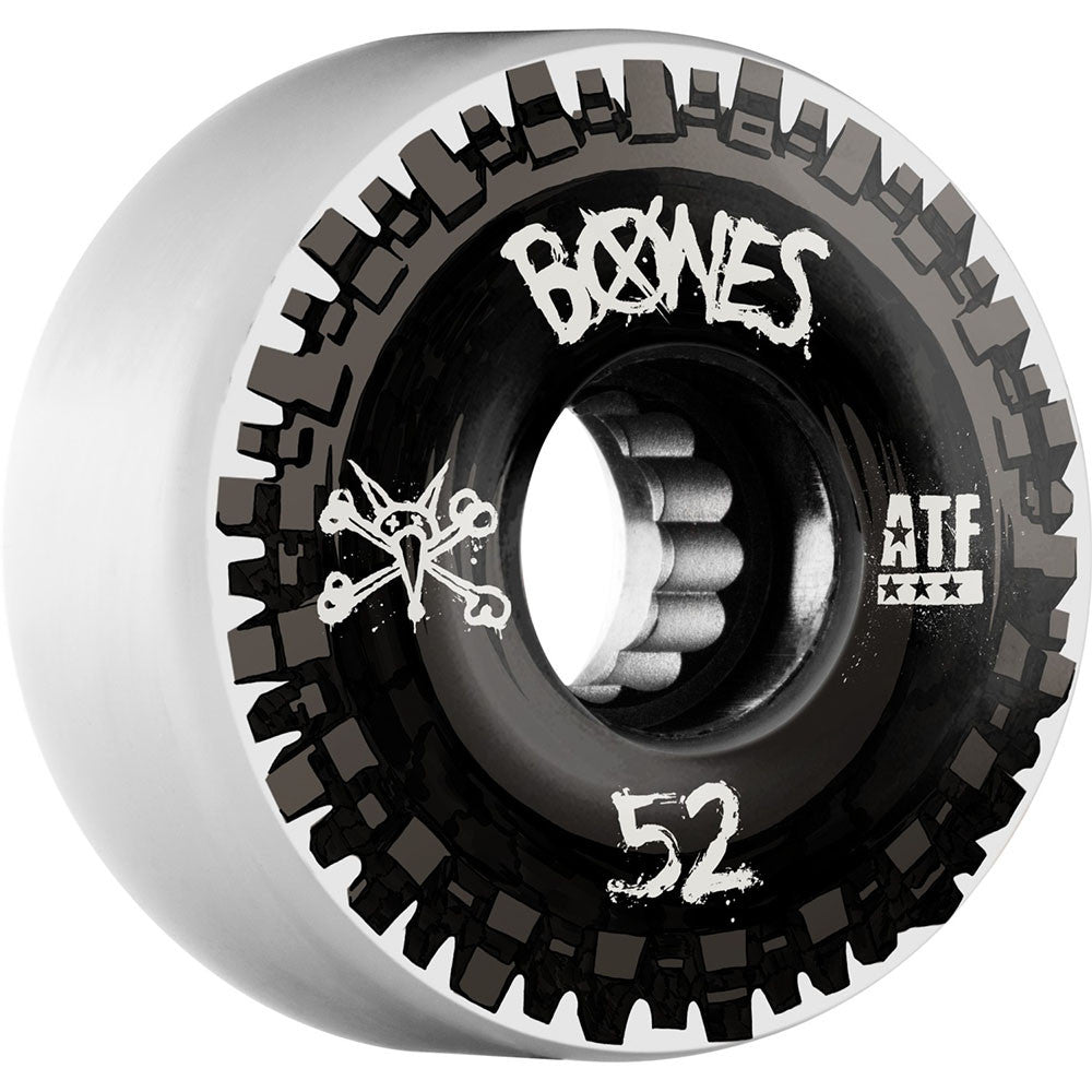 Bones ATF Nobs Skateboard Wheels - Black/White - 52mm 80a (Set of 4)