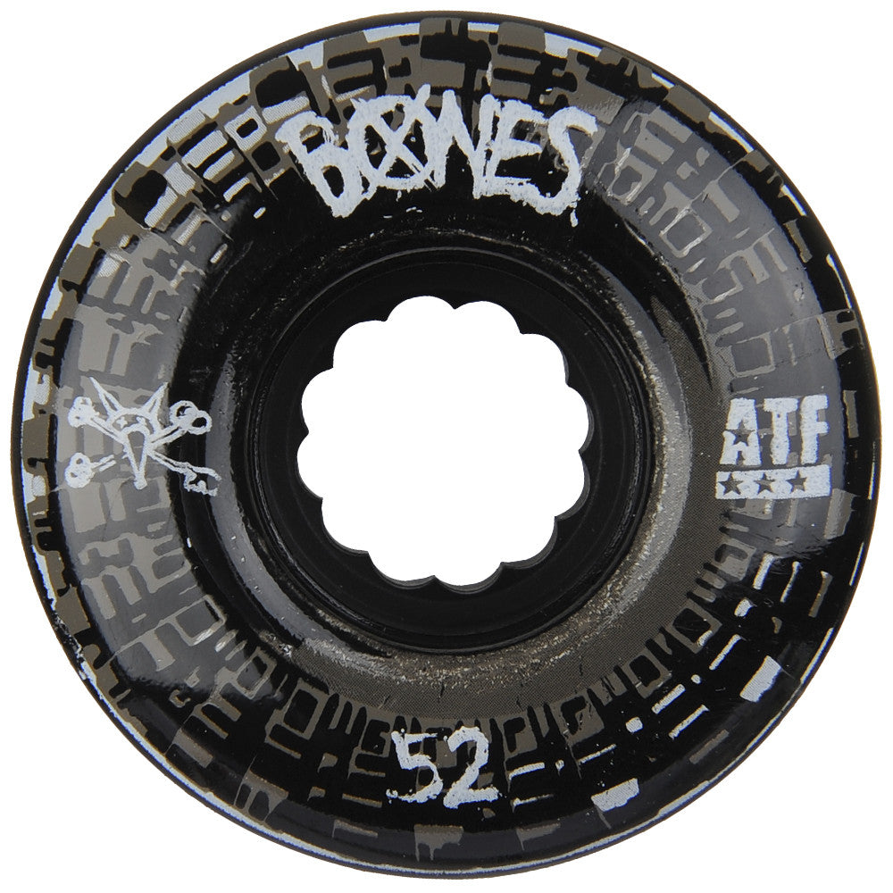 Bones ATF Nobs Skateboard Wheels - Black - 52mm 80a (Set of 4)