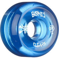 Bones Clear SPF Skateboard Wheels - Blue - 56mm 84b (Set of 4)