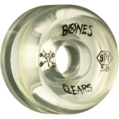 Bones Clear SPF Skateboard Wheels - Clear - 58mm 84b (Set of 4)