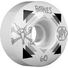 Bones Rat SPF Skateboard Wheels - White - 60mm 84b (Set of 4)