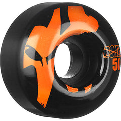 Bones 100's Icon Skateboard Wheels - Black/Orange - 50mm 100a (Set of 4)