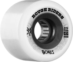 Bones Rough Rider ATF Skateboard Wheels - White - 56mm 80a (Set of 4)