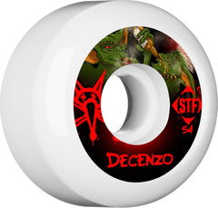 Bones STF Pro Decenzo Yum Yum Skateboard Wheels - White - 54mm 83b (Set of 4)
