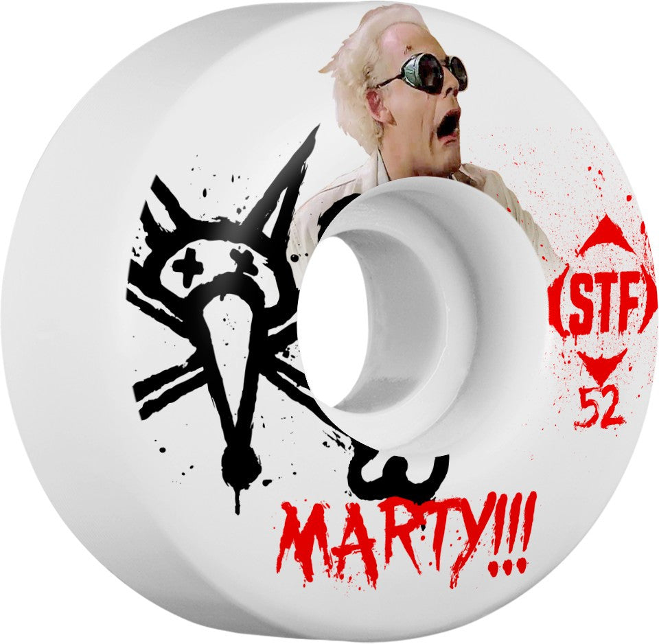 Bones STF Pro Murawski Doc Skateboard Wheels - White - 52mm 83b (Set of 4)