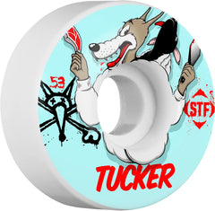 Bones STF Pro Tucker Woflpack Skateboard Wheels - White - 53mm 83b (Set of 4)
