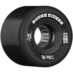 Bones Rough Rider ATF Skateboard Wheels - Black - 56mm 80a (Set of 4)