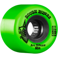 Bones Rough Rider ATF Skateboard Wheels - Green - 59mm 80a (Set of 4)