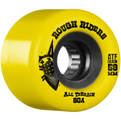 Bones Rough Rider ATF Skateboard Wheels - Yellow - 59mm 80a (Set of 4)