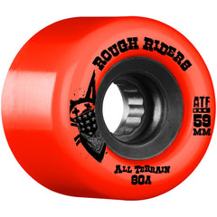 Bones Rough Rider ATF Skateboard Wheels - Red - 59mm 80a (Set of 4)