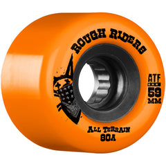Bones Rough Rider ATF Skateboard Wheels - Orange - 59mm 80a (Set of 4)