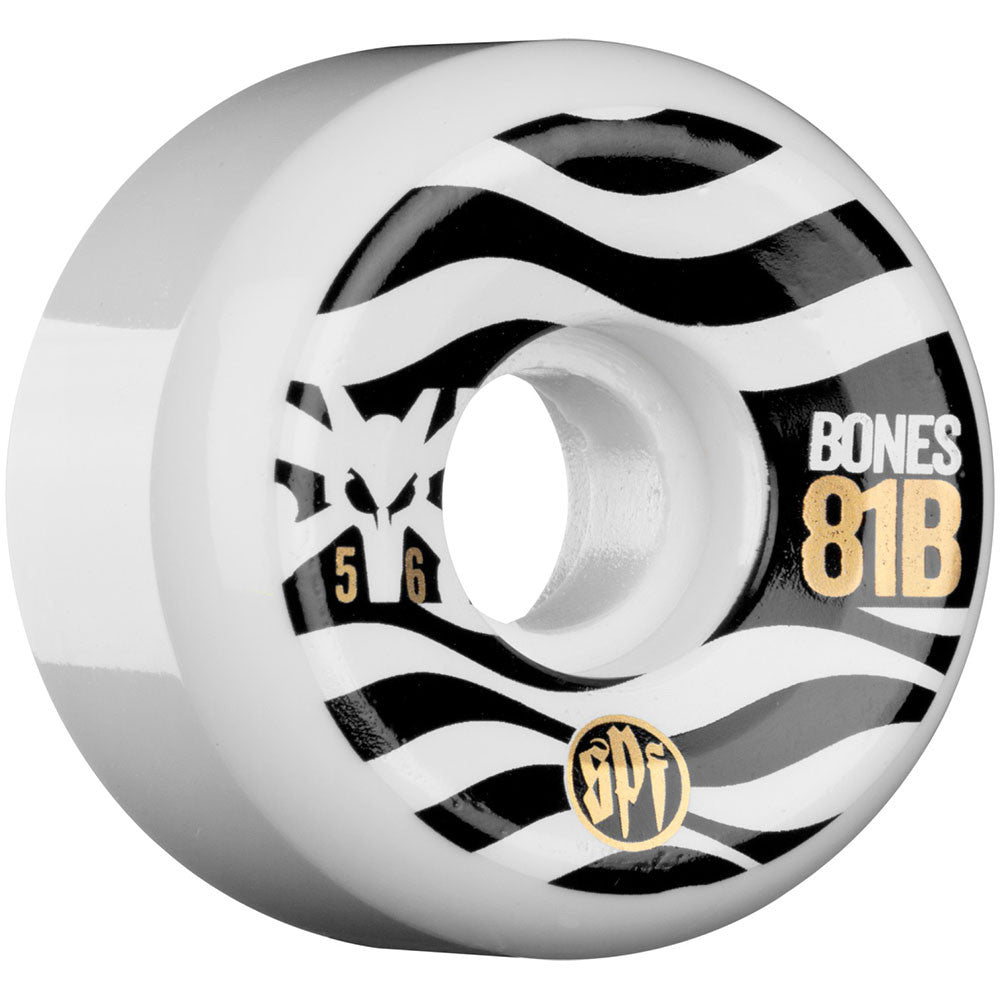 Bones SPF Eighty Ones Skateboard Wheels - White - 56mm 81b (Set of 4)