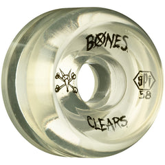 Bones Clear SPF Skateboard Wheels - Natural - 58mm 84b (Set of 4)