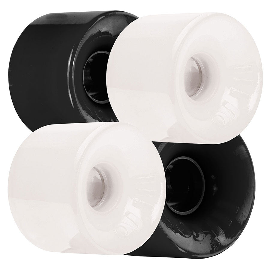 OJ Hot Juice Mini Skateboard Wheels 55mm 78a - Ebony/Ivory (Set of 4)