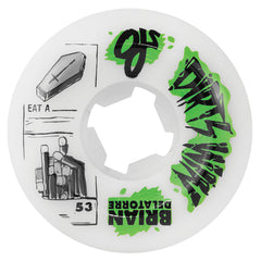 OJ Delatorre Dirts Win Skateboard Wheels 53mm 101a - White (Set of 4)