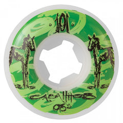 OJ Cabalitos Skateboard Wheels 50mm 101a  - White (Set of 4)