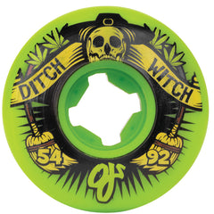 OJ Ditch Witch Skateboard Wheels - Green - 54mm 92a (Set of 4)