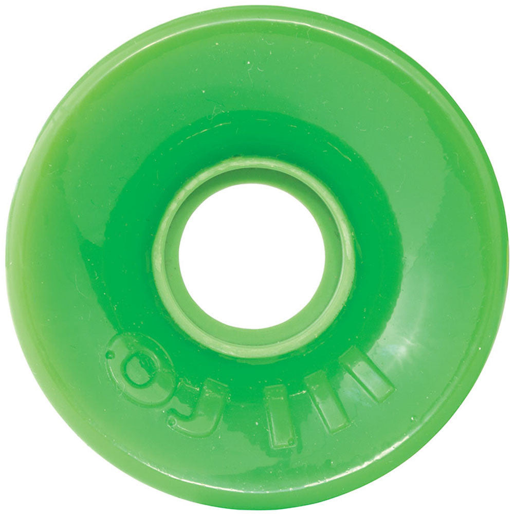 OJ Hot Juice Skateboard Wheels - Neon Green - 60mm 78a (Set of 4)