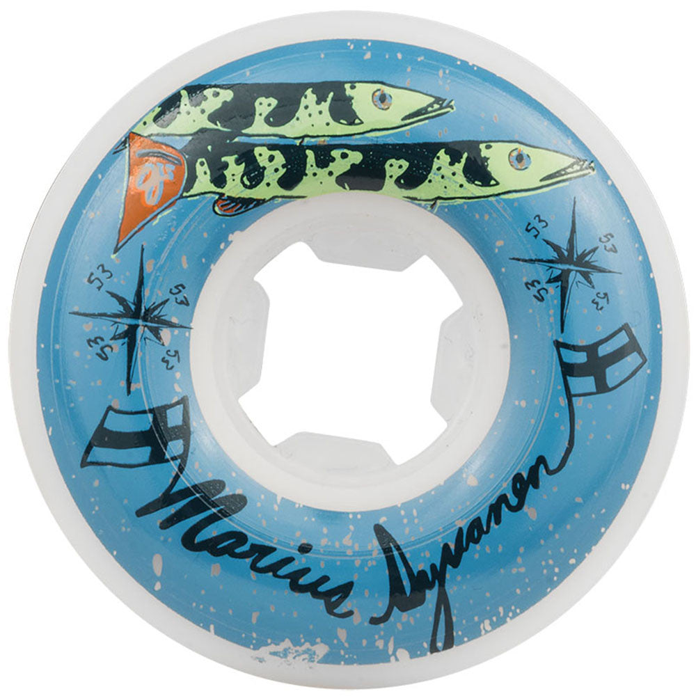 OJ Marius Syvanen Skateboard Wheels - White - 53mm 101a (Set of 4)