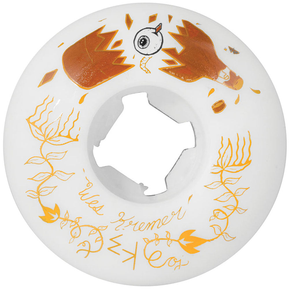 OJ Kremer Beer Trippin Skateboard Wheels - White - 52mm 101a (Set of 4)