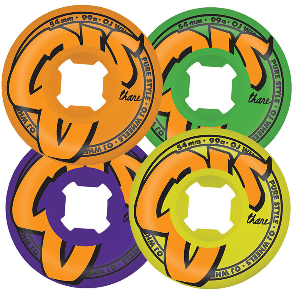 OJ Logo Family Skateboard Wheels - Mix Up - 54mm 99a (Set of 4)