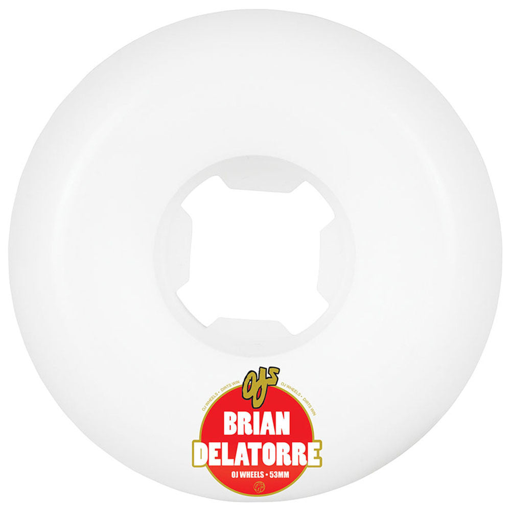 OJ Delatorre Product Of Cuba Hardline - 53mm 101a - White (Set of 4)
