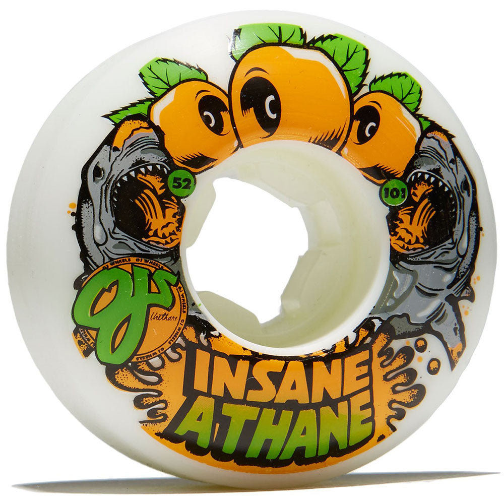 OJ Sharks EZ Edge Insaneathane - 52mm 101a - White/Orange (Set of 4)