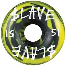 Slave Corporate Skateboard Wheels 51mm - Black/Yellow Swirl (Set of 4)