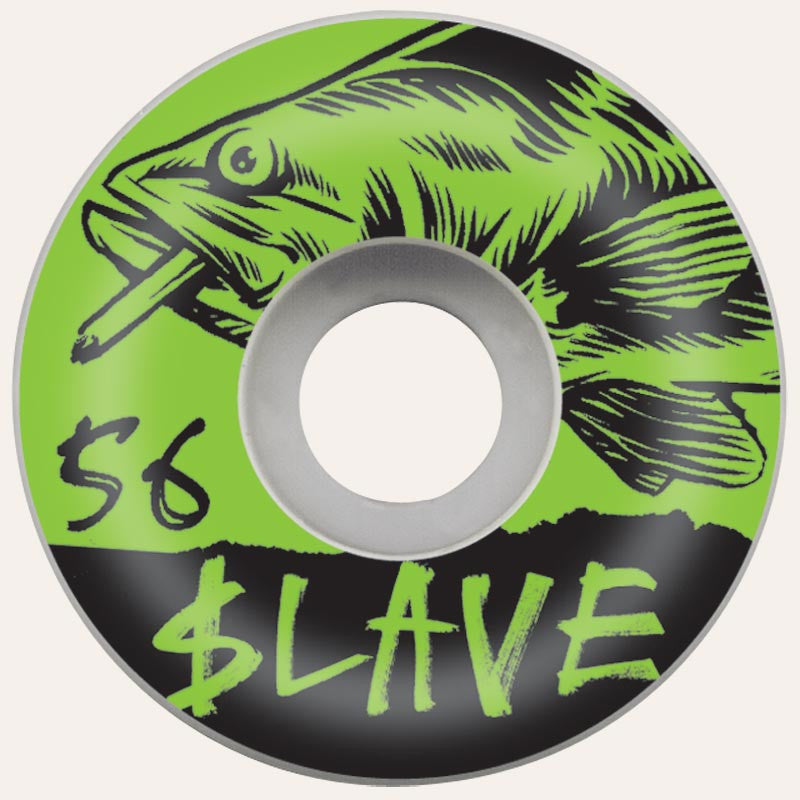 Slave Bass Destruction - White/Green - 56mm - Skateboard Wheels (Set of 4)