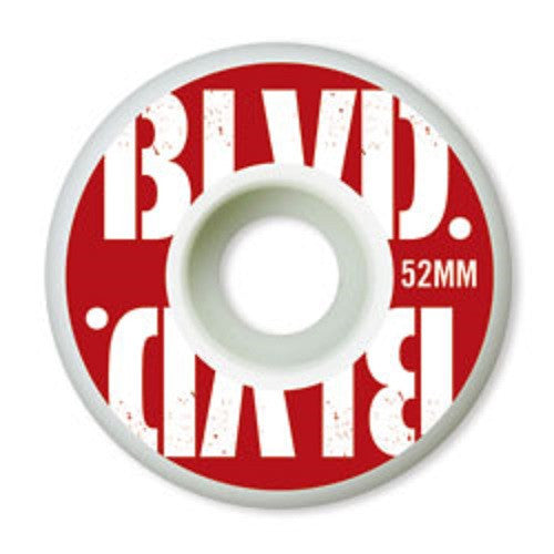 BLVD Stacked Skateboard Wheels 52mm - White (Set of 4)
