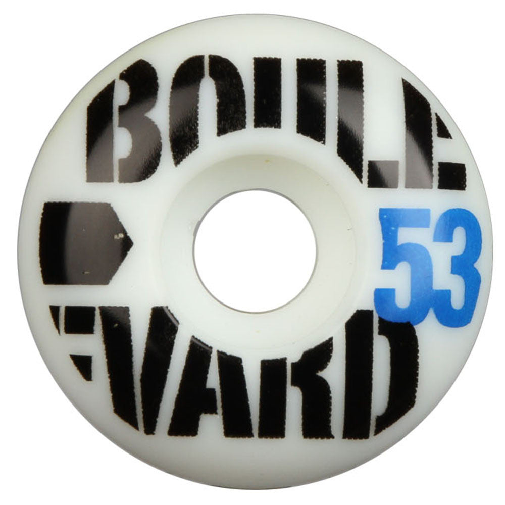 BLVD Bold Skateboard Wheels - White - 53mm (Set of 4)