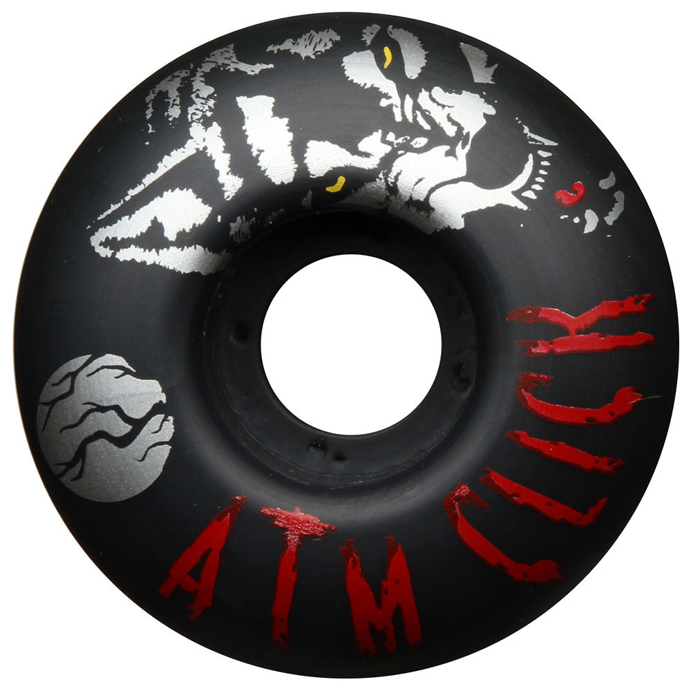 ATM Silver Wolf PP Skateboard Wheels - Black - 53mm (Set of 4)