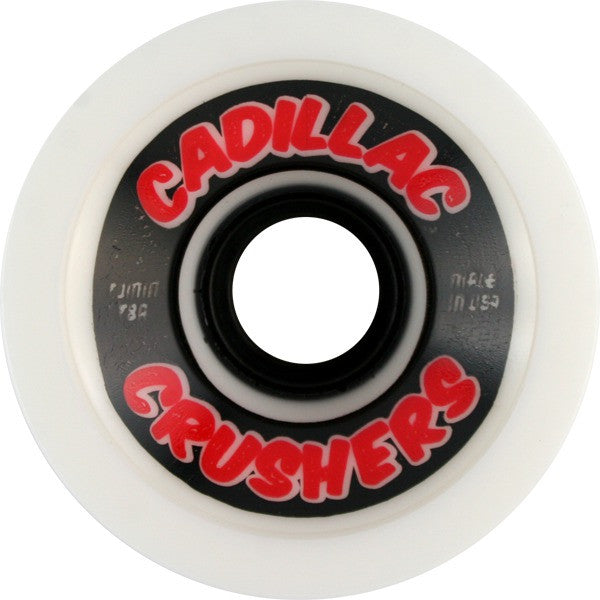 Cadillac Crushers Skateboard Wheels 70mm - White (Set of 4)