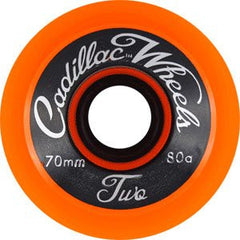 Cadillac Classic Two Skateboard Wheels 70mm - Orange (Set of 4)