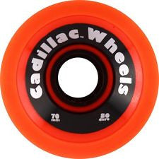 Cadillac Cruzer Skateboard Wheels 70mm - Neon Orange (Set of 4)