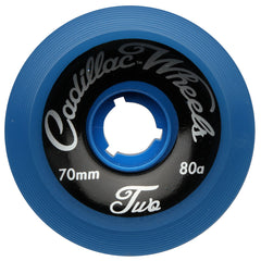 Cadillac Classic Two Skateboard Wheels - Blue - 70mm (Set of 4)