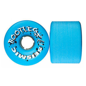 Seismic Bootleg Skateboard Wheels 70mm 84a - Blue Opaque (Set of 4)