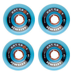 Seismic Hot Spot Skateboard Wheels 76mm 80a - Sky Blue Opaque (Set of 4)