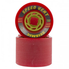 Seismic Speed Vent Skateboard Wheels 73mm 81a - Opaque Red (Set of 4)