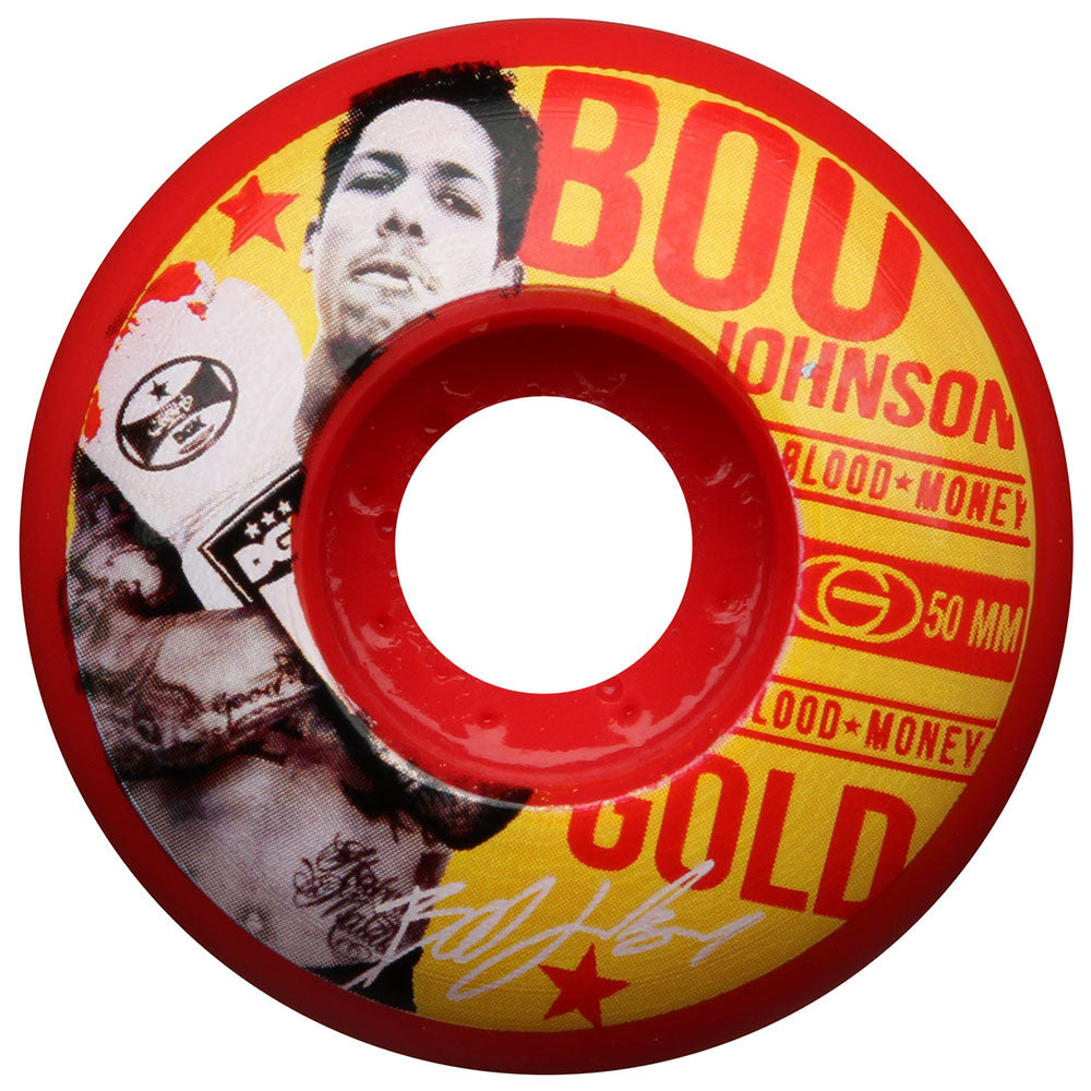 Gold Johnson Fight Skateboard Wheels - Red - 50mm (Set of 4)