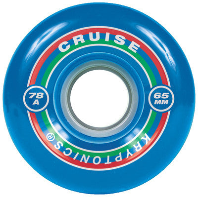 Kryptonics Cruise Skateboard Wheels 65mm 78a - Blue (Set of 4)